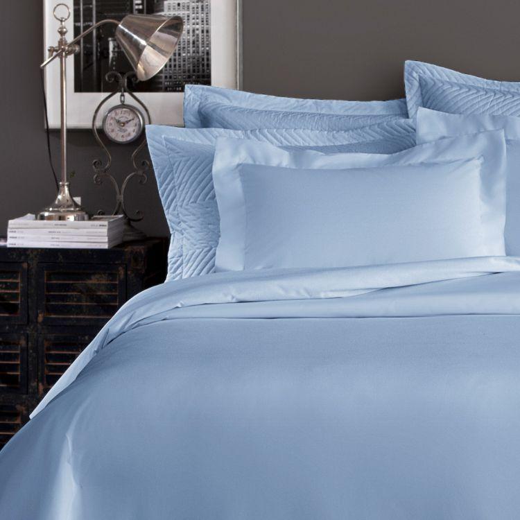 Jogo de Cama King 4 Peças Home Design 200 Fios Azul