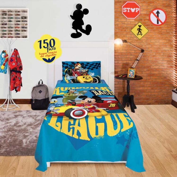 1b4832870f casa cama edredons edredon solteiro edredom infantil santista mickey ...