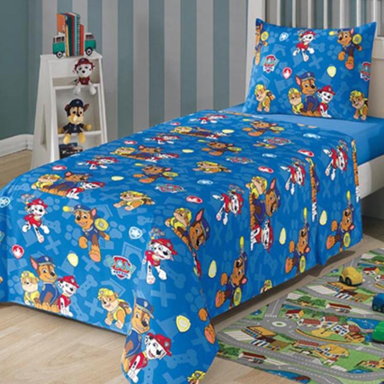 Jogo de Cama Infantil Lepper Kids Patrulha Canina Azul 2pçs