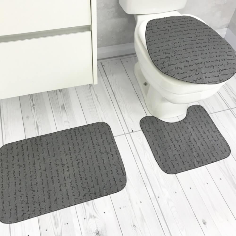 Jogo de Tapete de Banheiro 3 Peças Ágata
