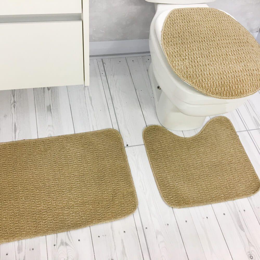Jogo de Tapete de Banheiro 3 Peças Onix Paula