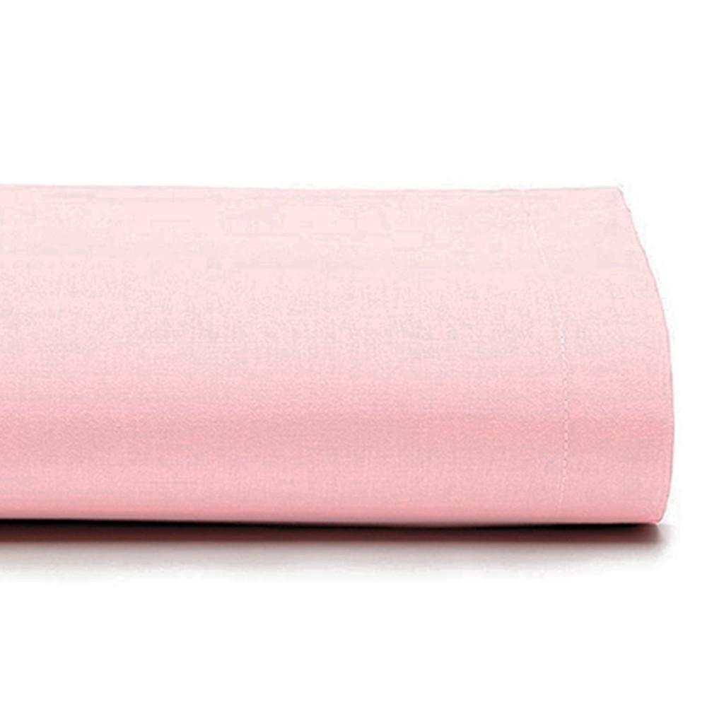 Lençol Casal Avulso 100% Algodão 150 Fios Liso Rosa
