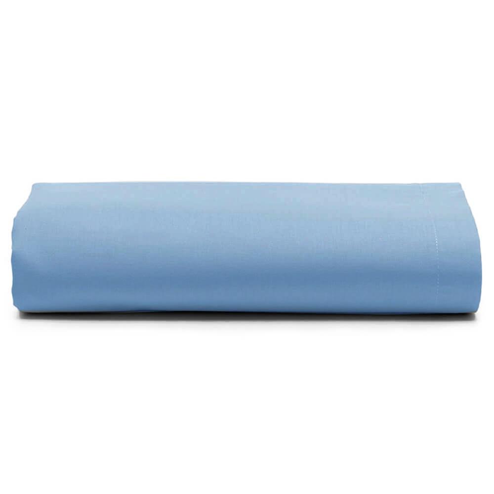 Lençol Casal Avulso 100% Algodão Royal Liso Azul