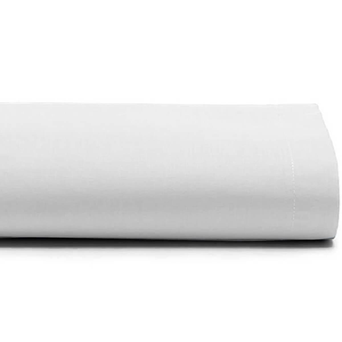 Lençol Casal Avulso 100% Algodão Royal Liso Branco