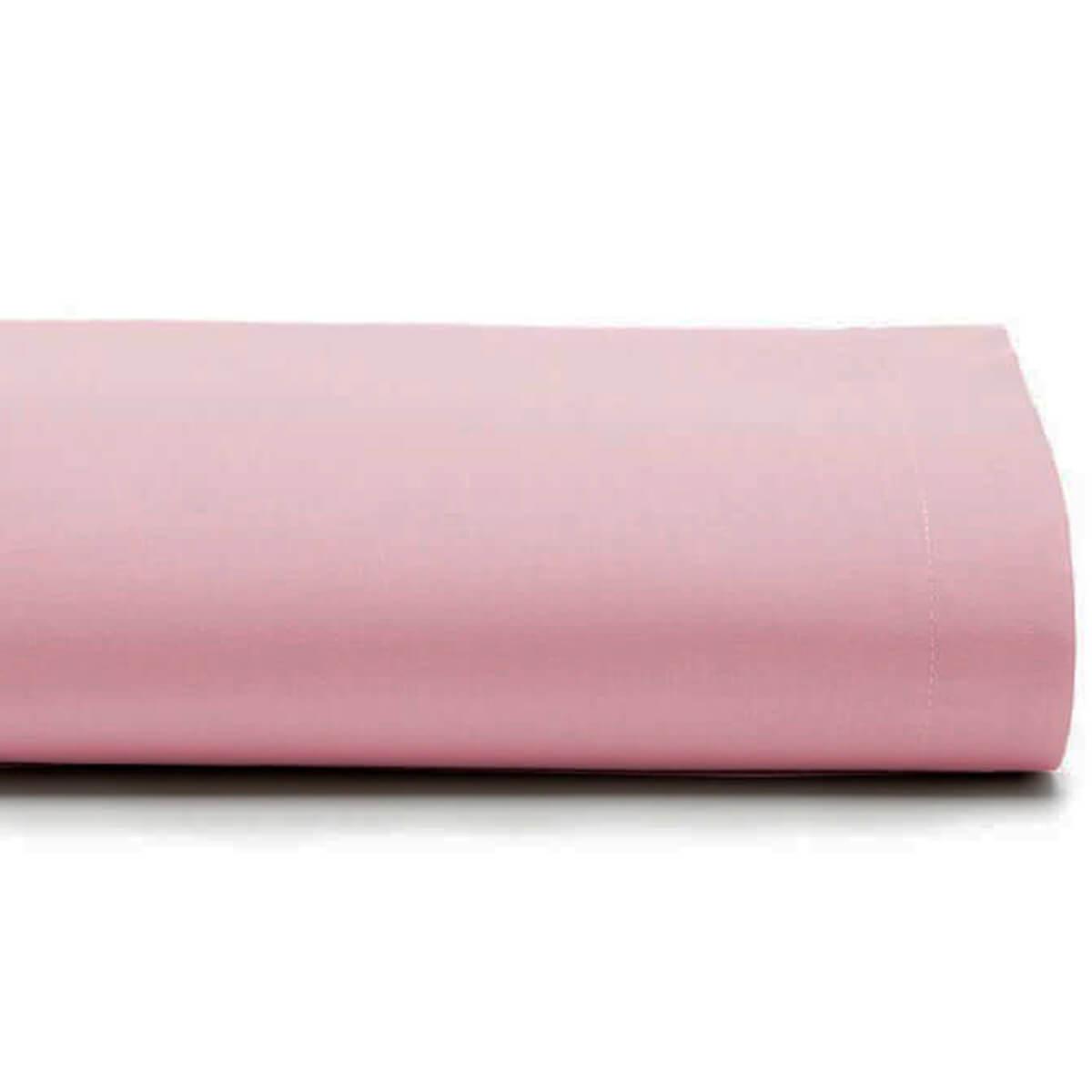 Lençol Casal Avulso 100% Algodão Royal Liso Rosa