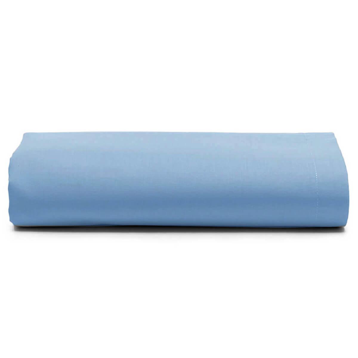 Lençol King Avulso 100% Algodão Royal Liso Azul
