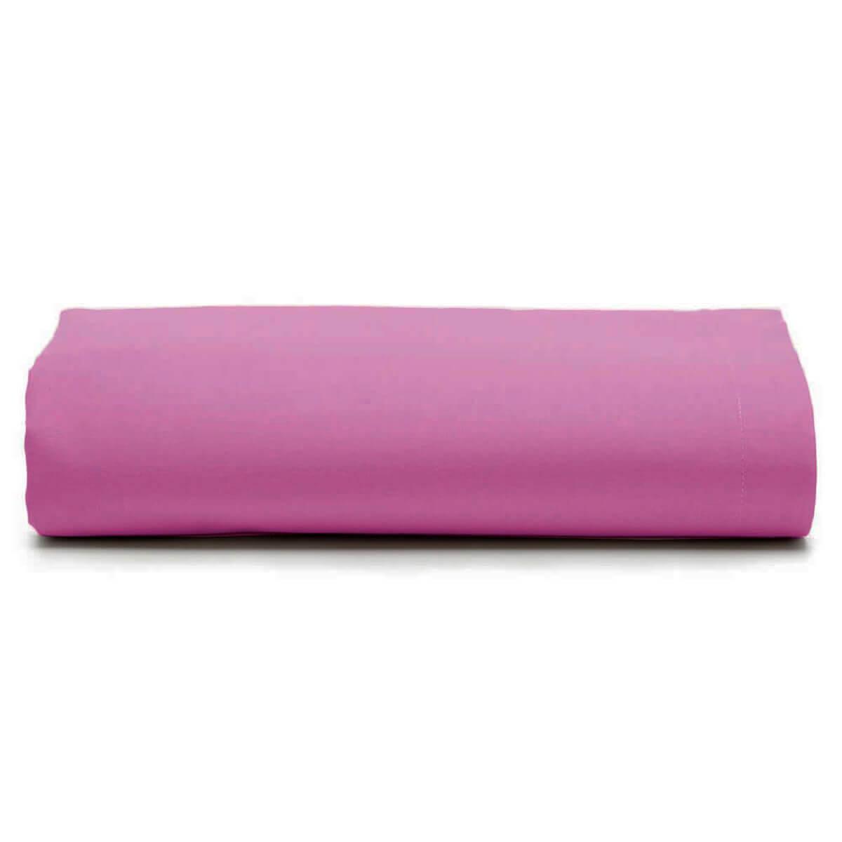 Lençol King Avulso 100% Algodão Royal Liso Pink
