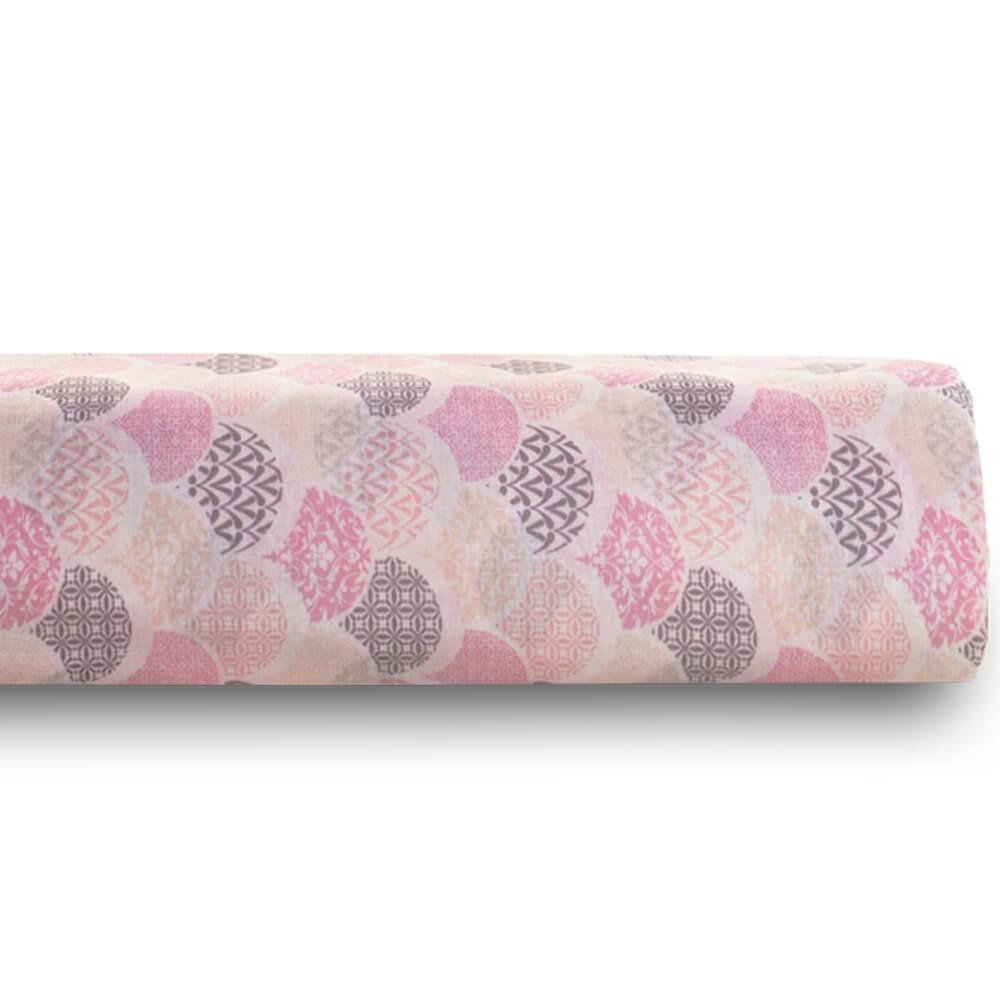 Lençol Queen Avulso 100% Algodão Royal Estampado Deco Rosa