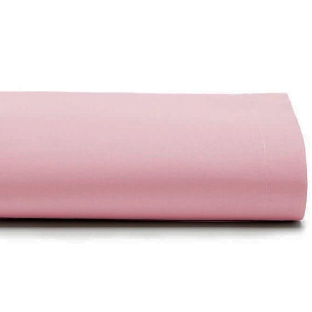 Lençol Queen Avulso 100% Algodão Royal Liso Rosa