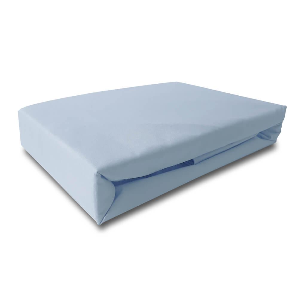 Lençol Queen Percal 200 Fios Top Confort Azul Claro