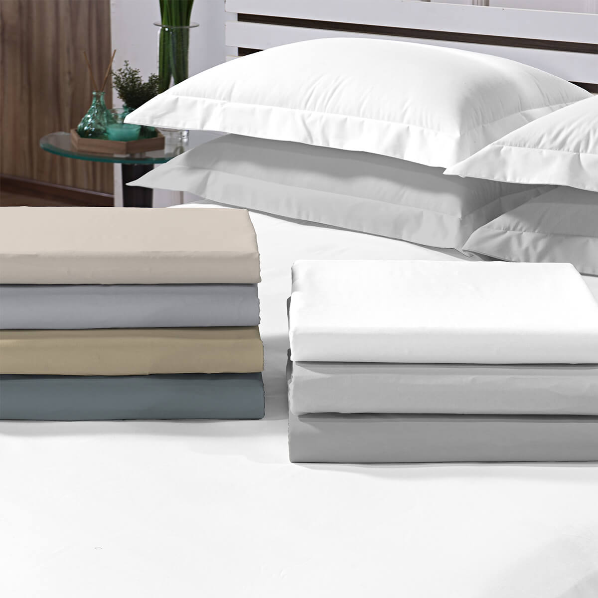 Lençol Queen Avulso Percal 200 Fios Top Confort Branco