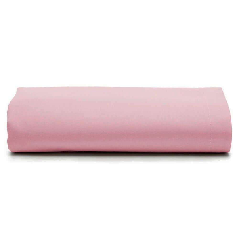 Lençol Solteiro Avulso 100% Algodão Rosa