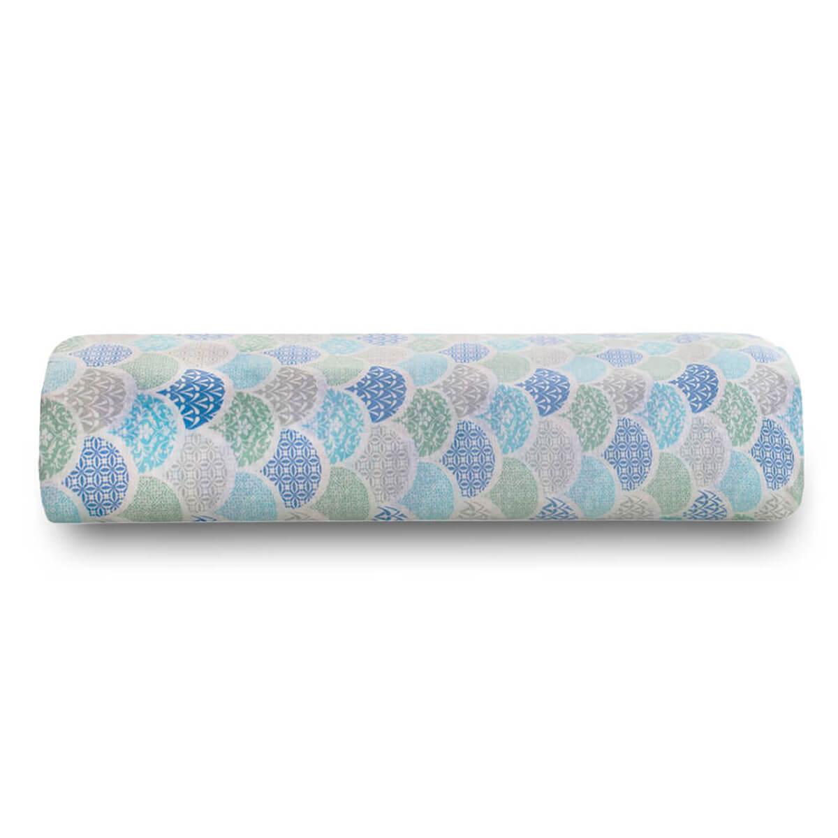 Lençol Solteiro Avulso 100% Algodão Royal Estampado Deco Azul