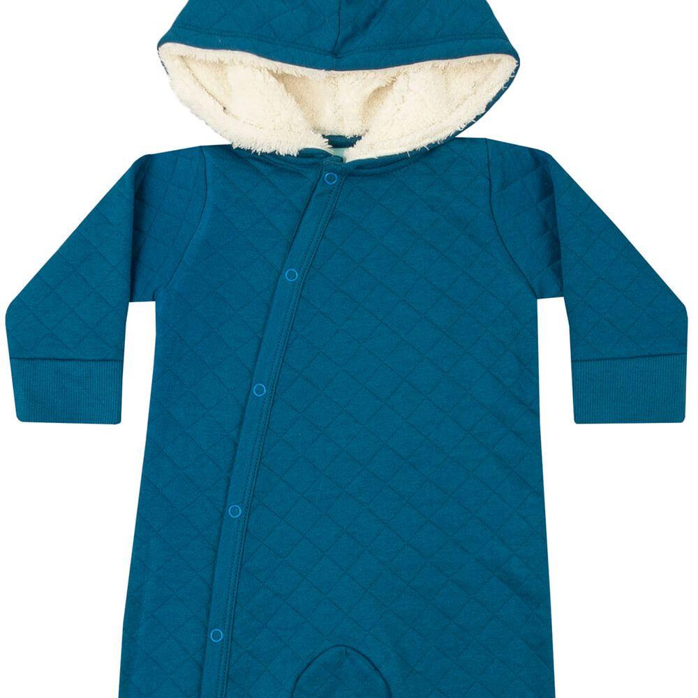 Macacão Bebê Matelado Azul