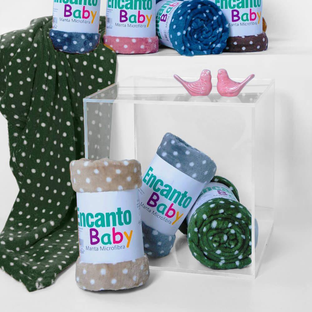 Manta Bebê Encanto Poá Verde