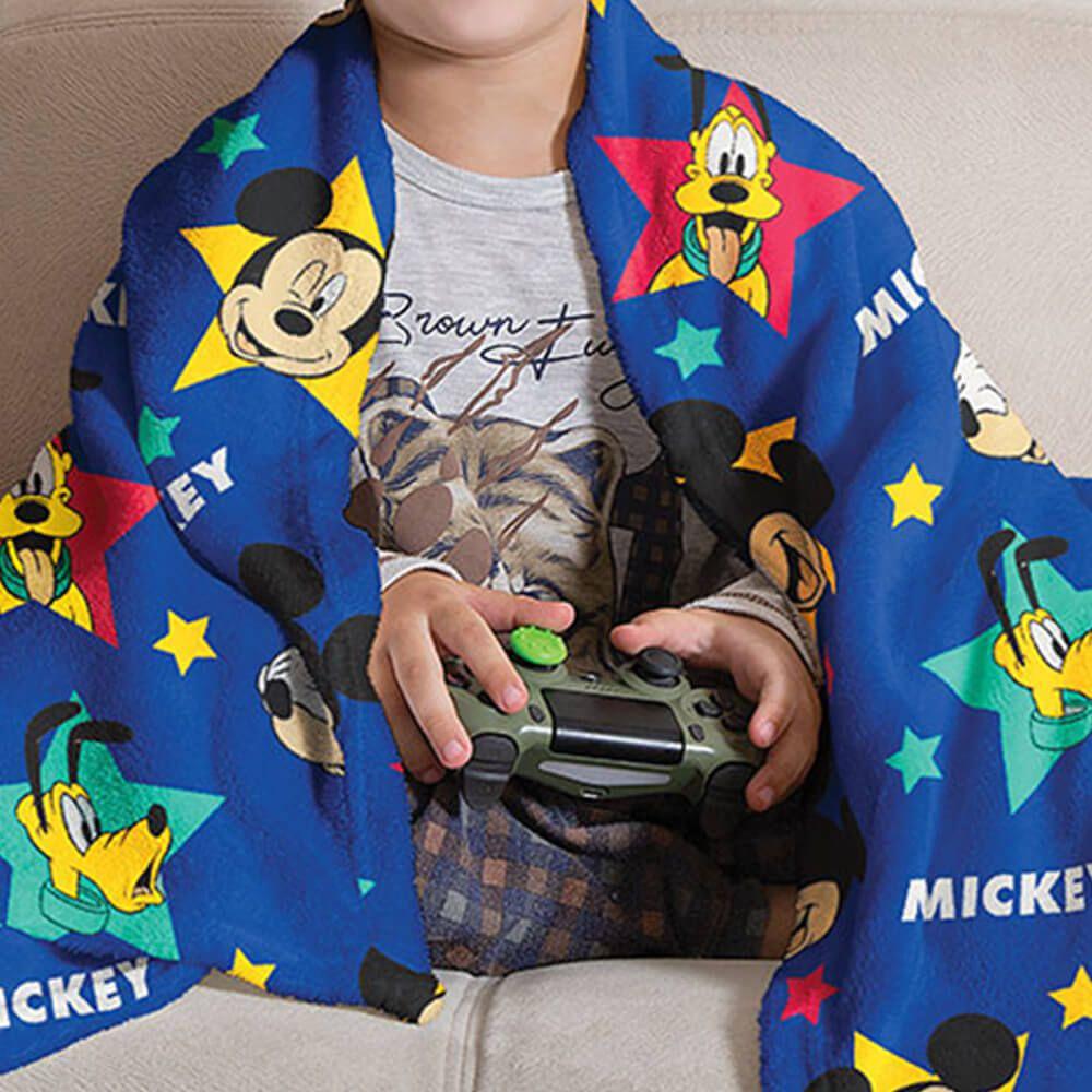 Manta de Sofá Infantil Mickey e Amigos