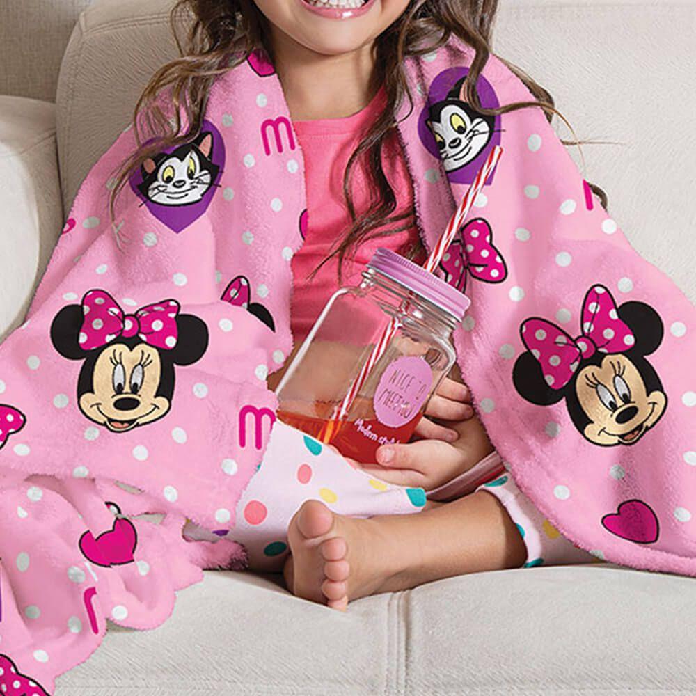 Manta de Sofá Infantil Minnie Poá