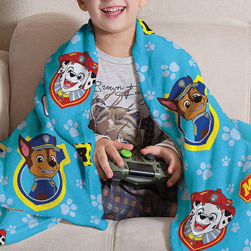 Manta de Sofá Infantil Patrulha Canina Azul
