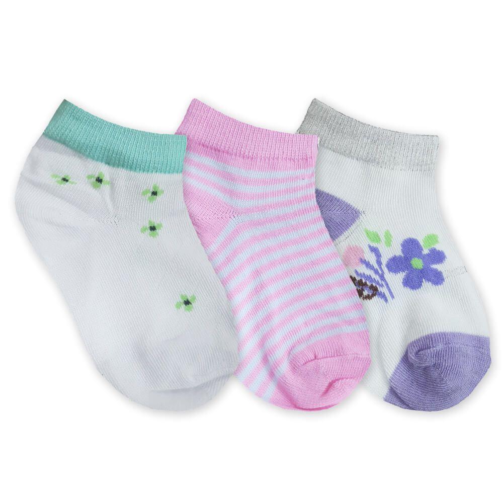 Meia Infantil Menina com 3 Peças Padrão 2