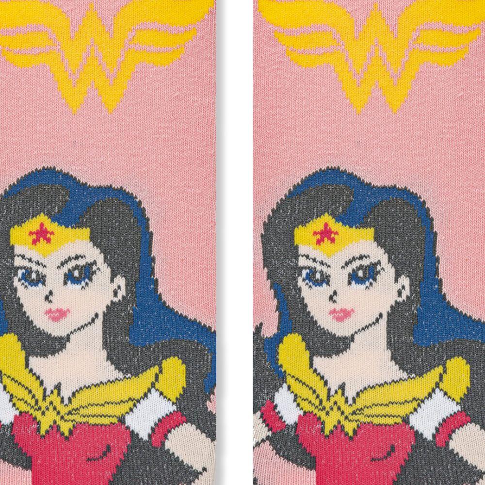 Meia Infantil Menina 29 ao 34 Liga da Justiça Mulher Maravilha Wonder