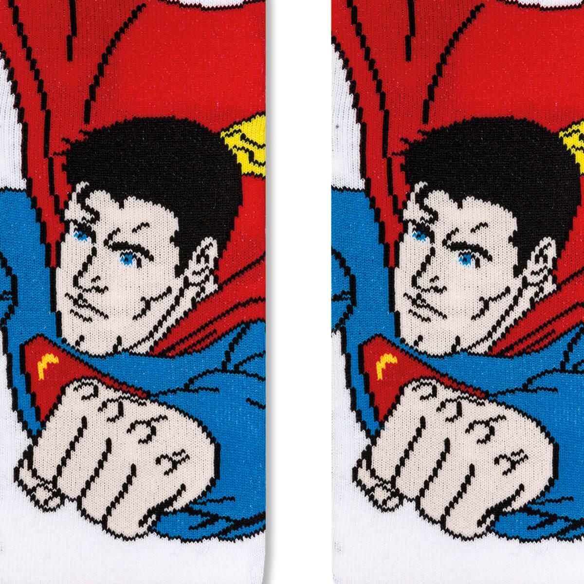 Meia Infantil Menino 25 ao 28 Liga da Justiça Super Homem Fly