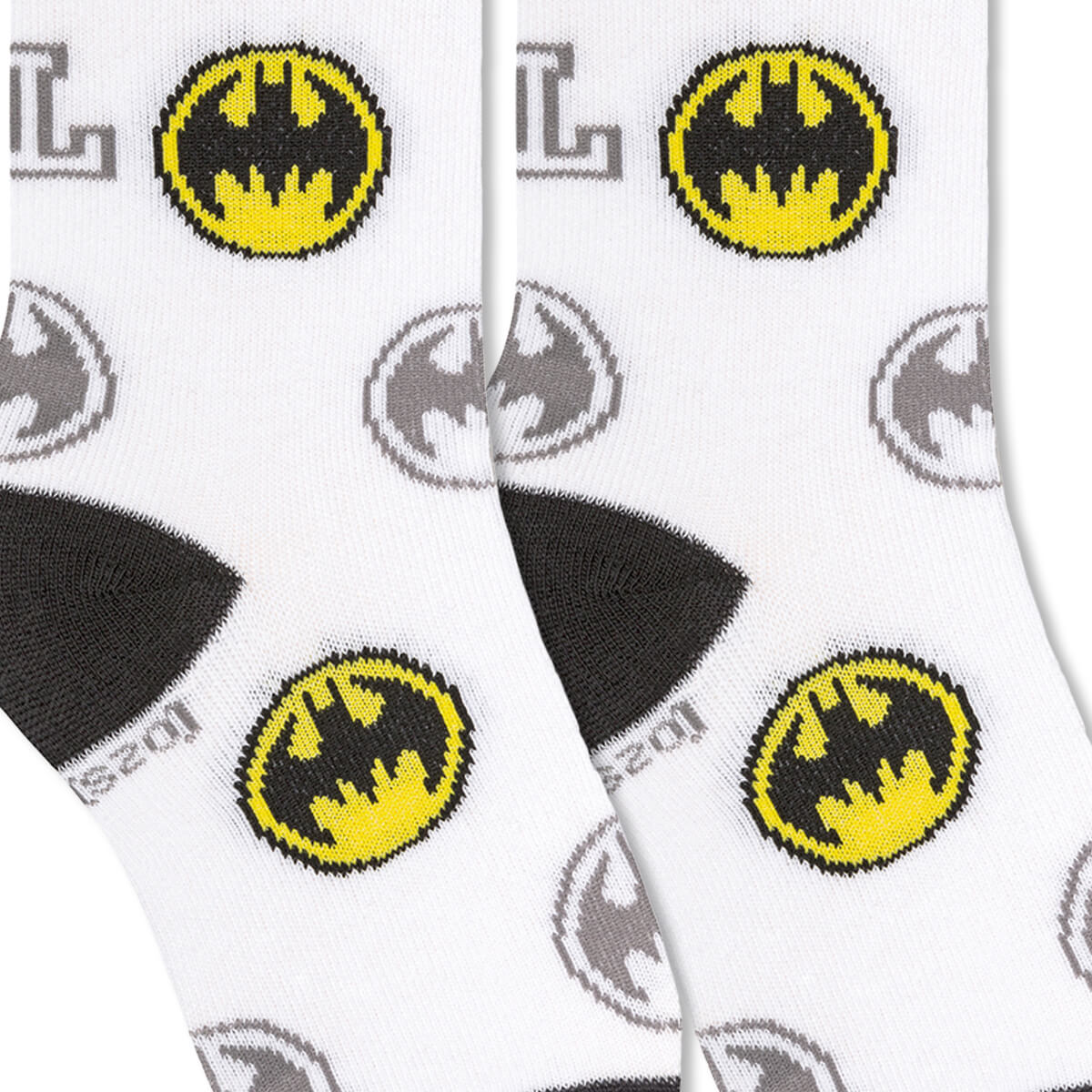 Meia Infantil Menino 29 ao 34 Liga da Justiça Batman Batsinal