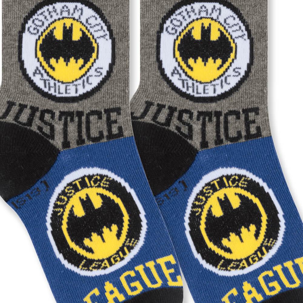 Meia Infantil Menino 29 ao 34 Liga da Justiça Batman Jusitce