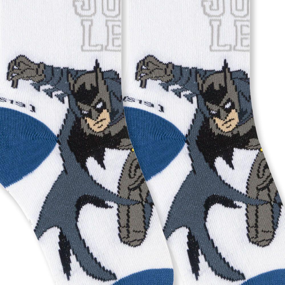 Meia Infantil Menino Batman Justiceiro