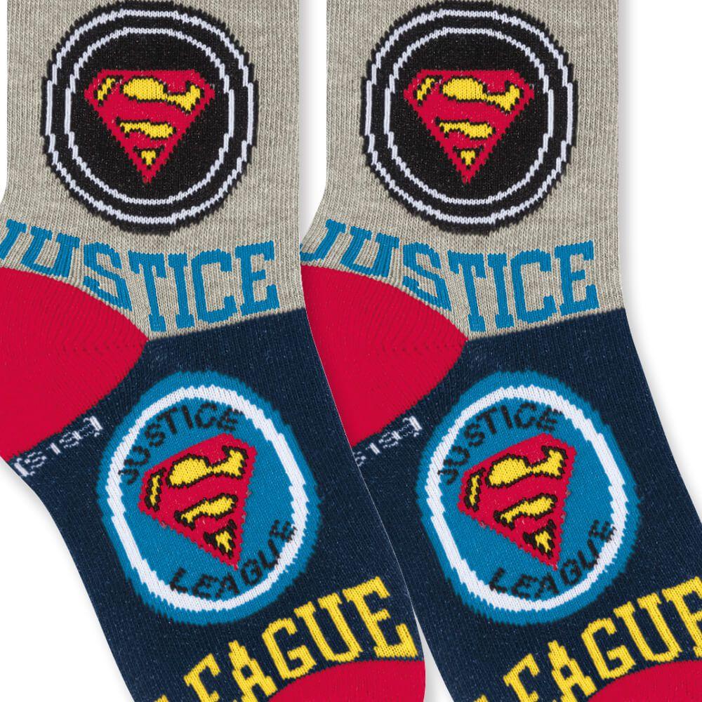 Meia Infantil Menino Super Homem Justice