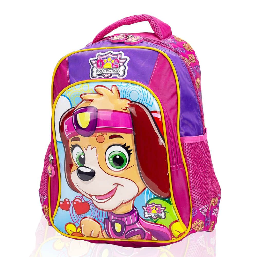 Mochila Infantil Dog Protection 3D Rosa