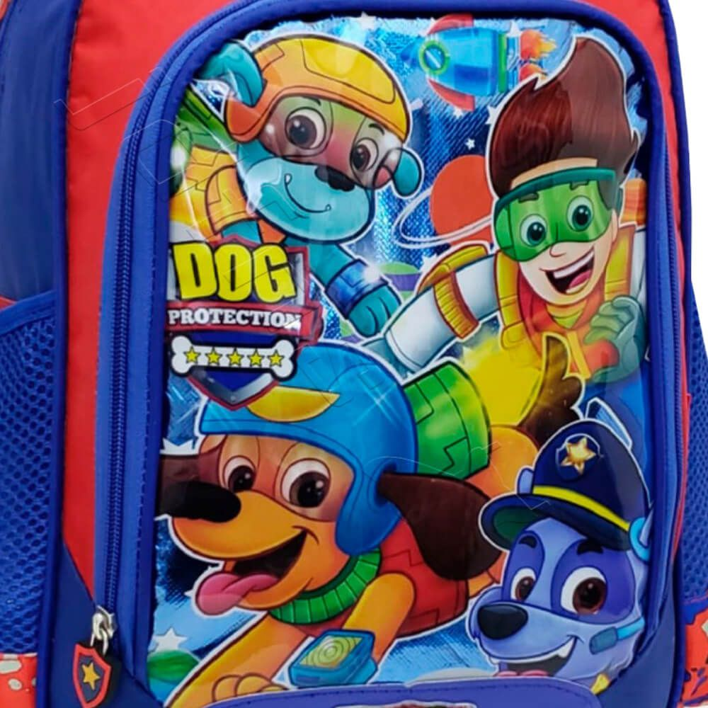 Mochila Infantil Dog Protection Azul
