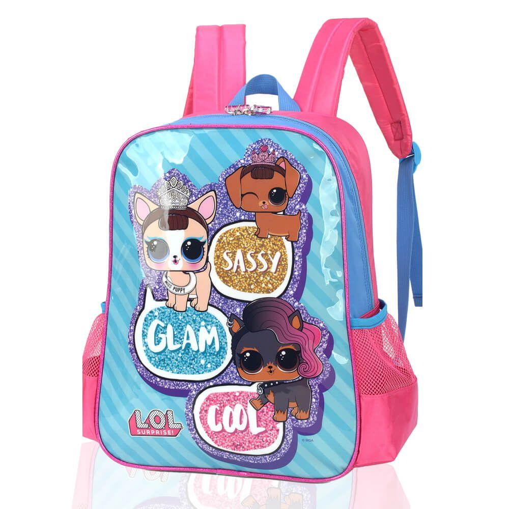 Mochila Infantil Infantil Menina LOL Pets Glam