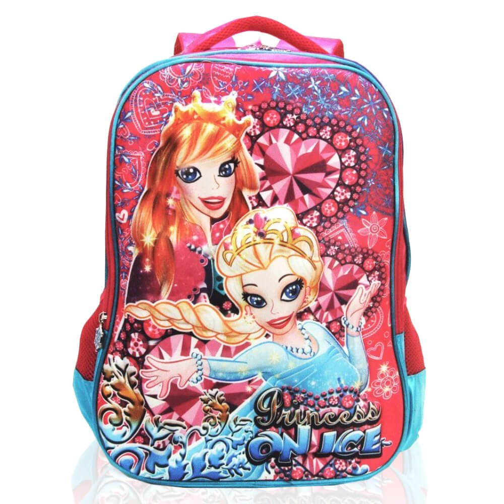 Mochila Infantil Princess On Ice Rosa