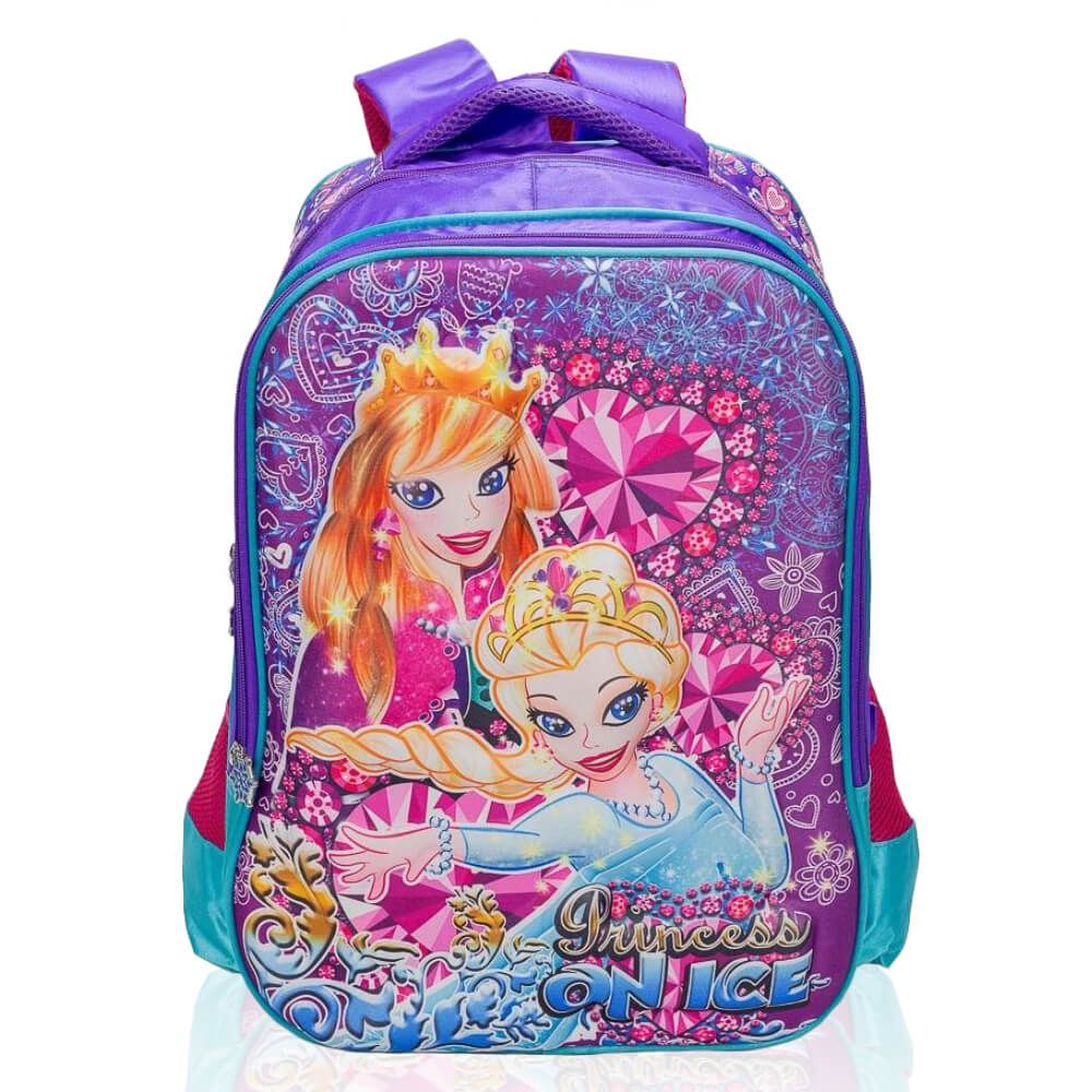 Mochila Infantil Princess On Ice Roxa