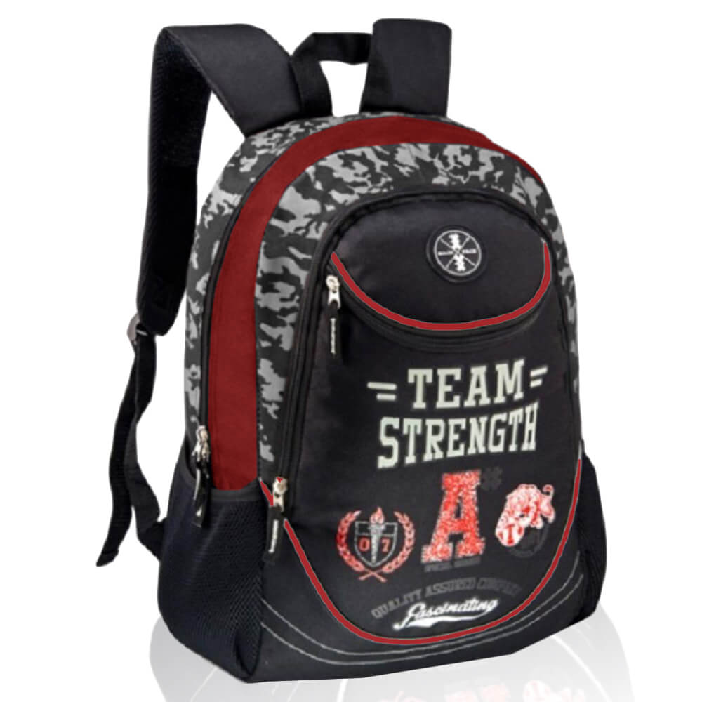 Mochila Masculina Casual Team Strenght Vermelha