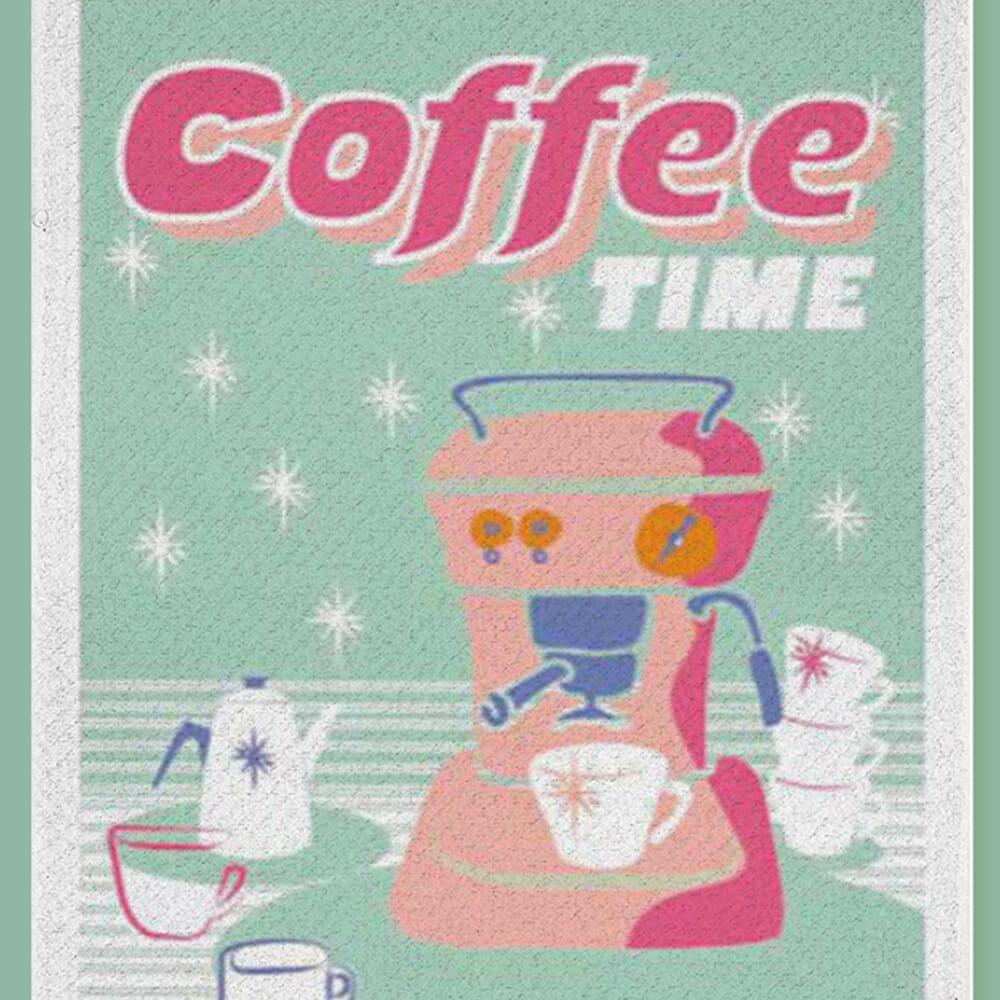 Pano de Prato Bom Pano Coffe Time