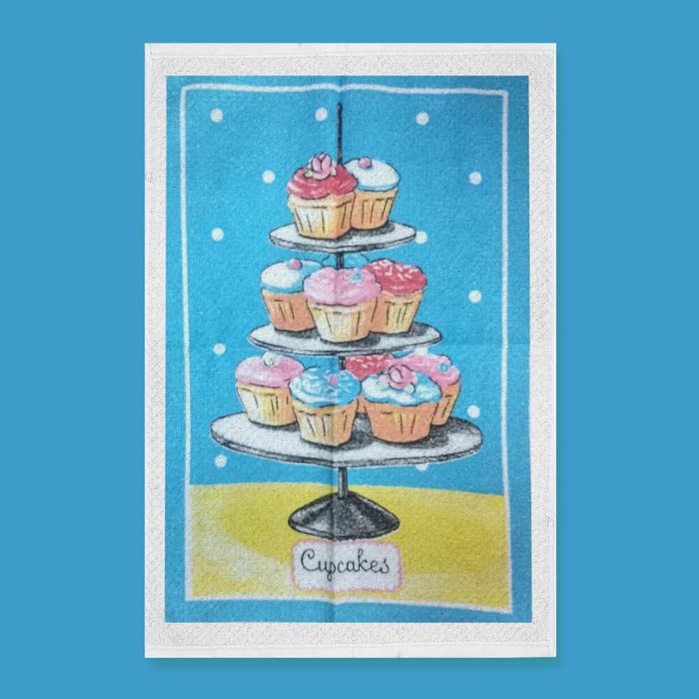 Pano de Prato Bom Pano Cupcake