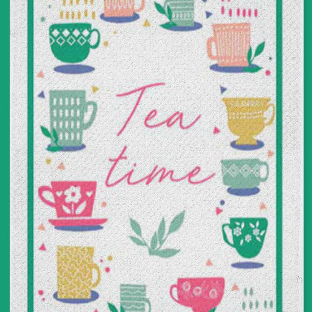 Pano de Prato Bom Pano Tea Time