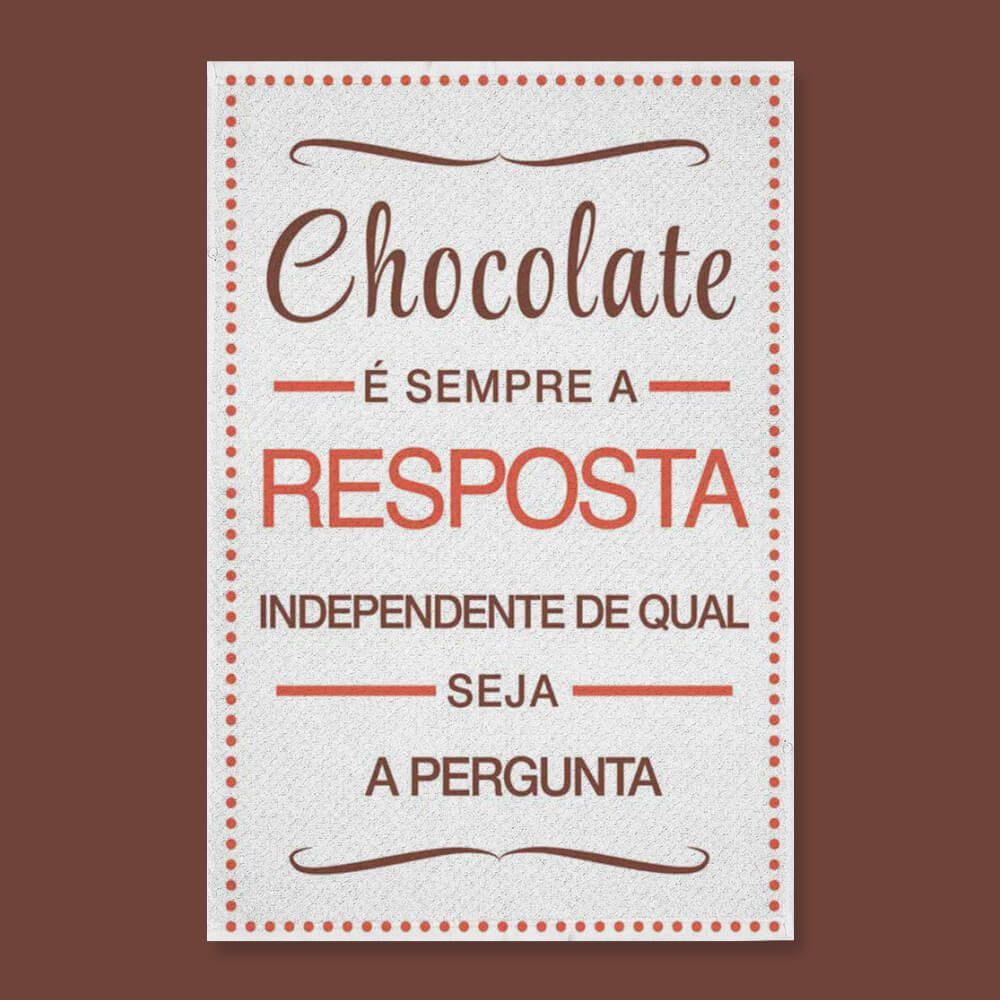 Pano de Prato Dizeres Chocolate