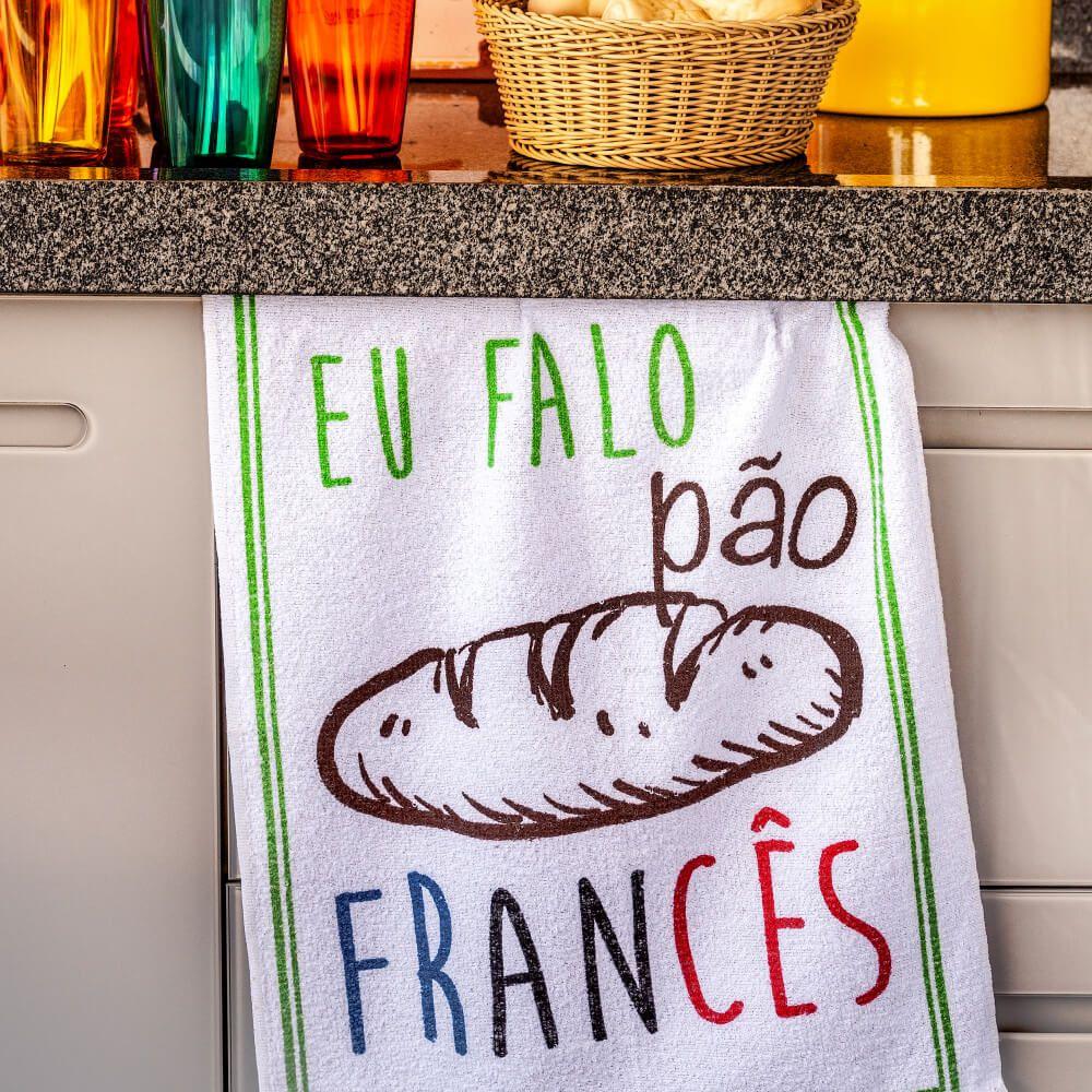 Pano de Prato Dizeres Pão Frances