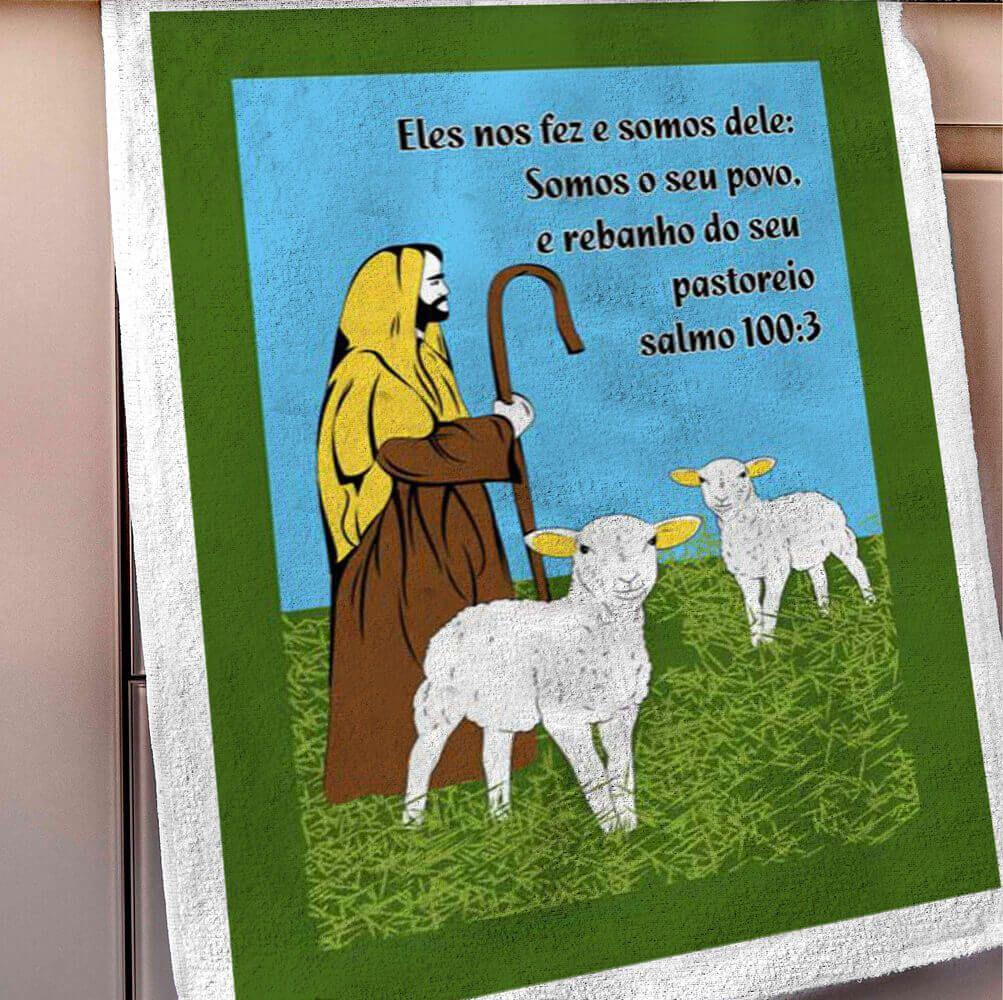 Pano de Prato Salmos Ovelha