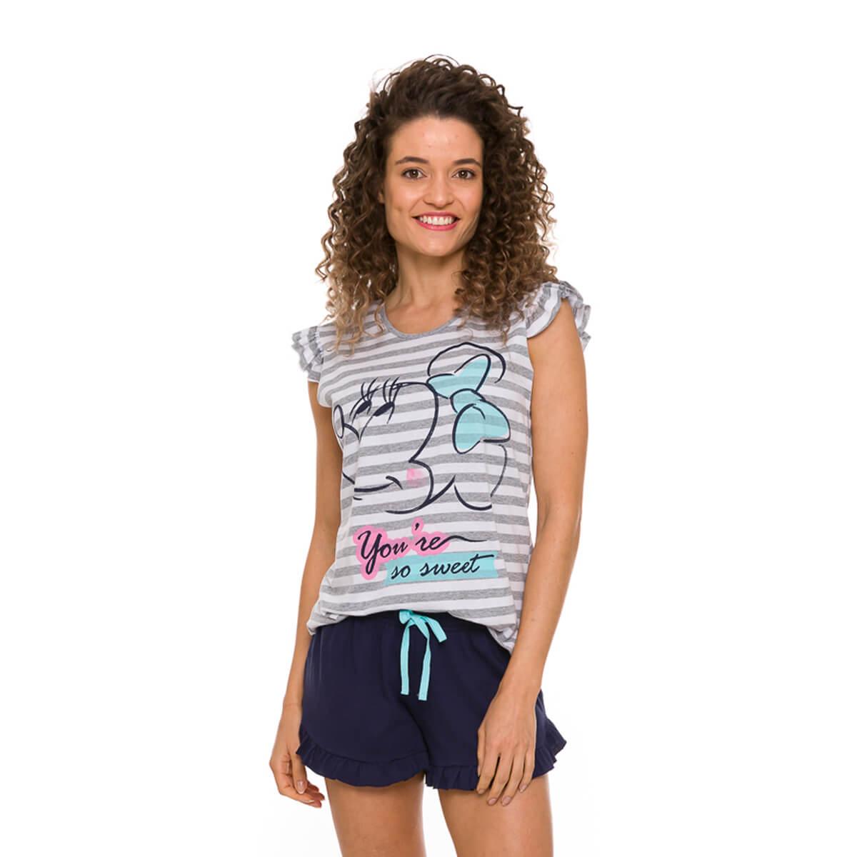 Pijama Feminino Curto Minnie