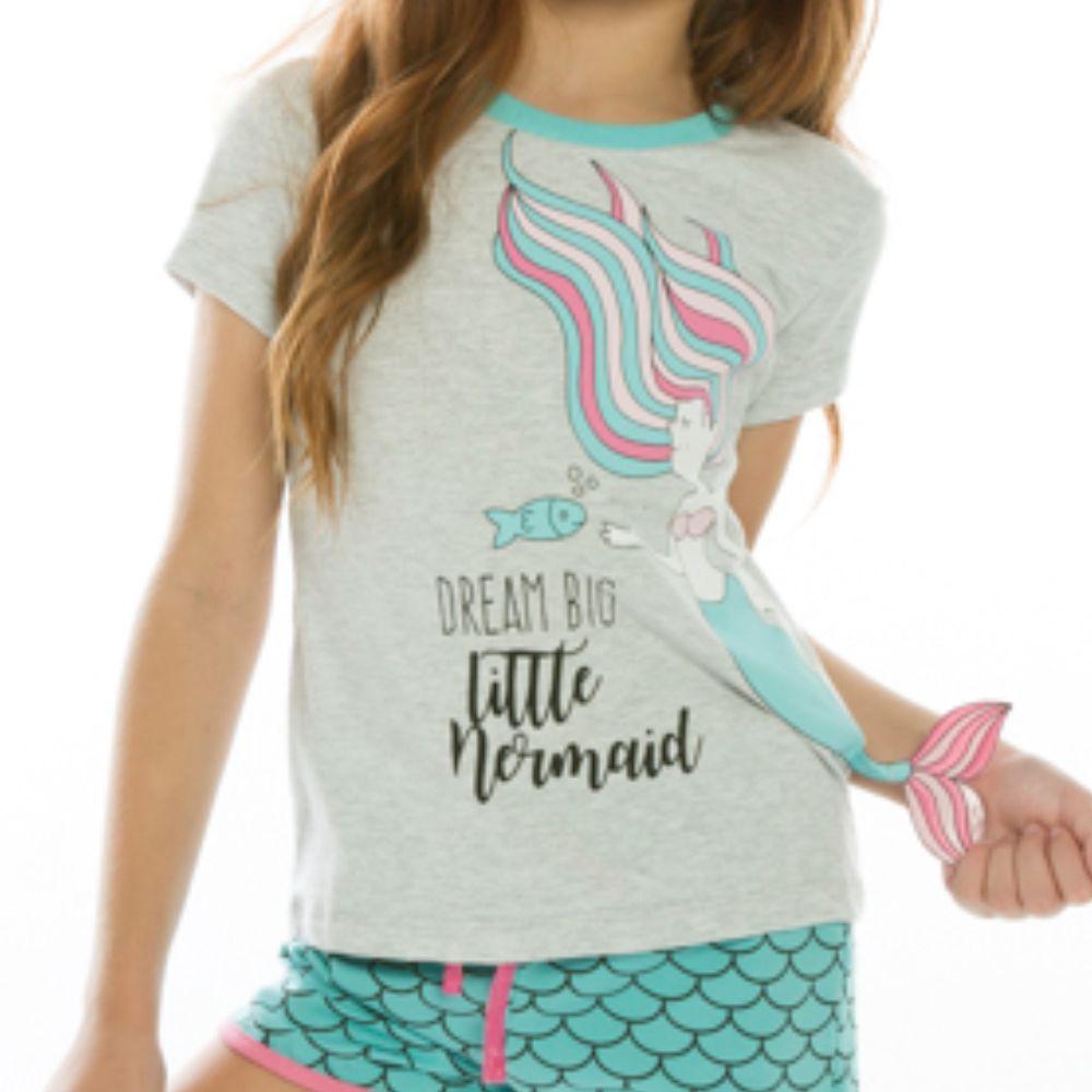 Pijama Infantil Sereia