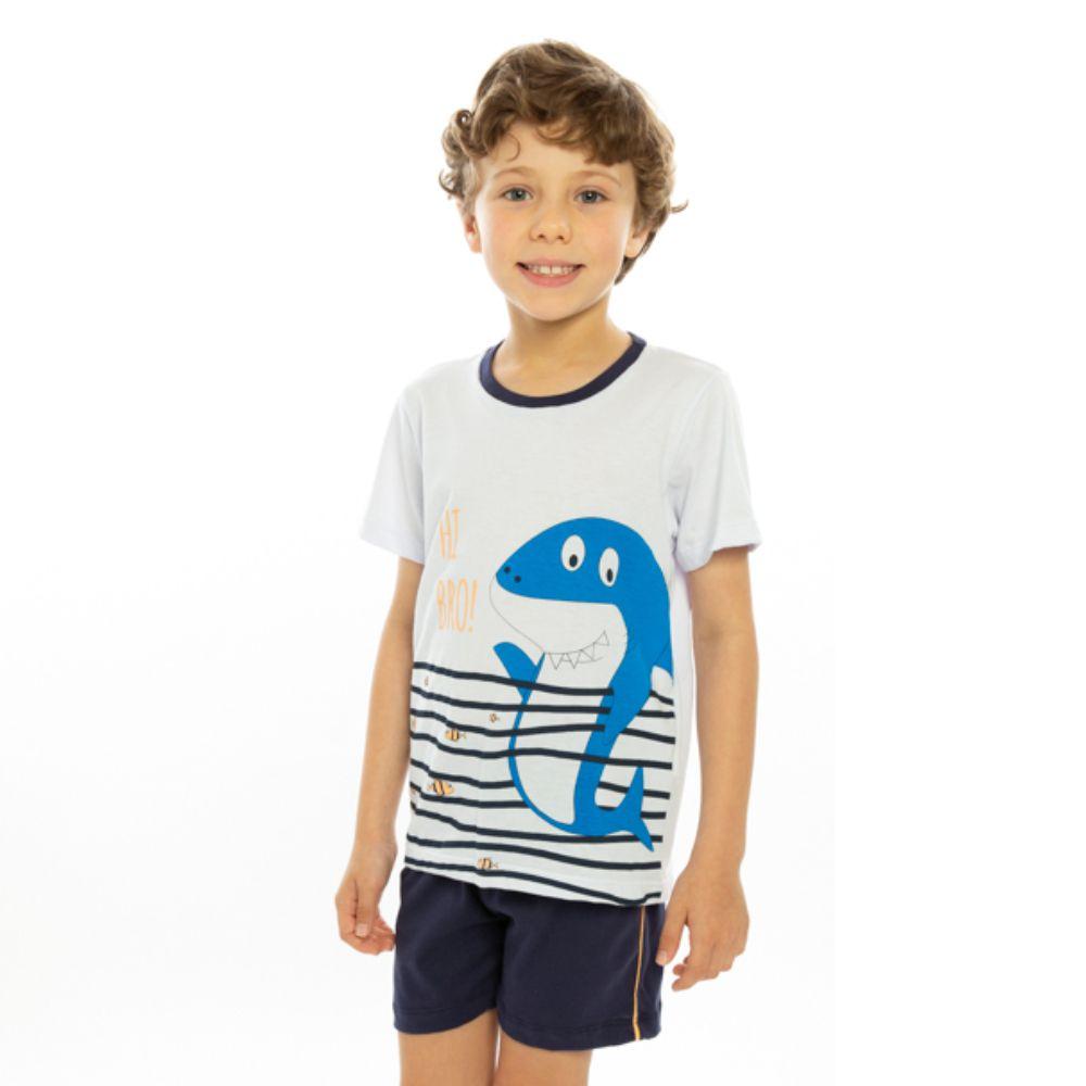 Pijama Infantil Tubarão