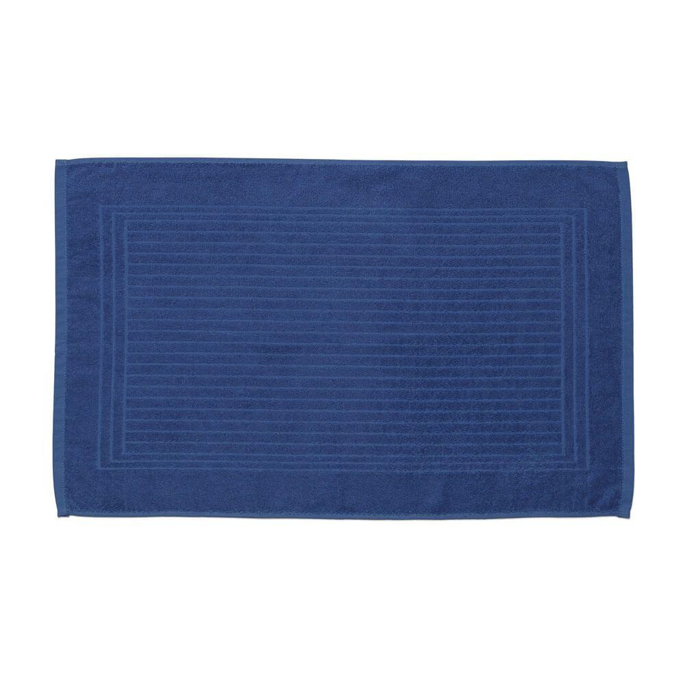 Toalha de Piso Felpuda Cedro Azul Escuro