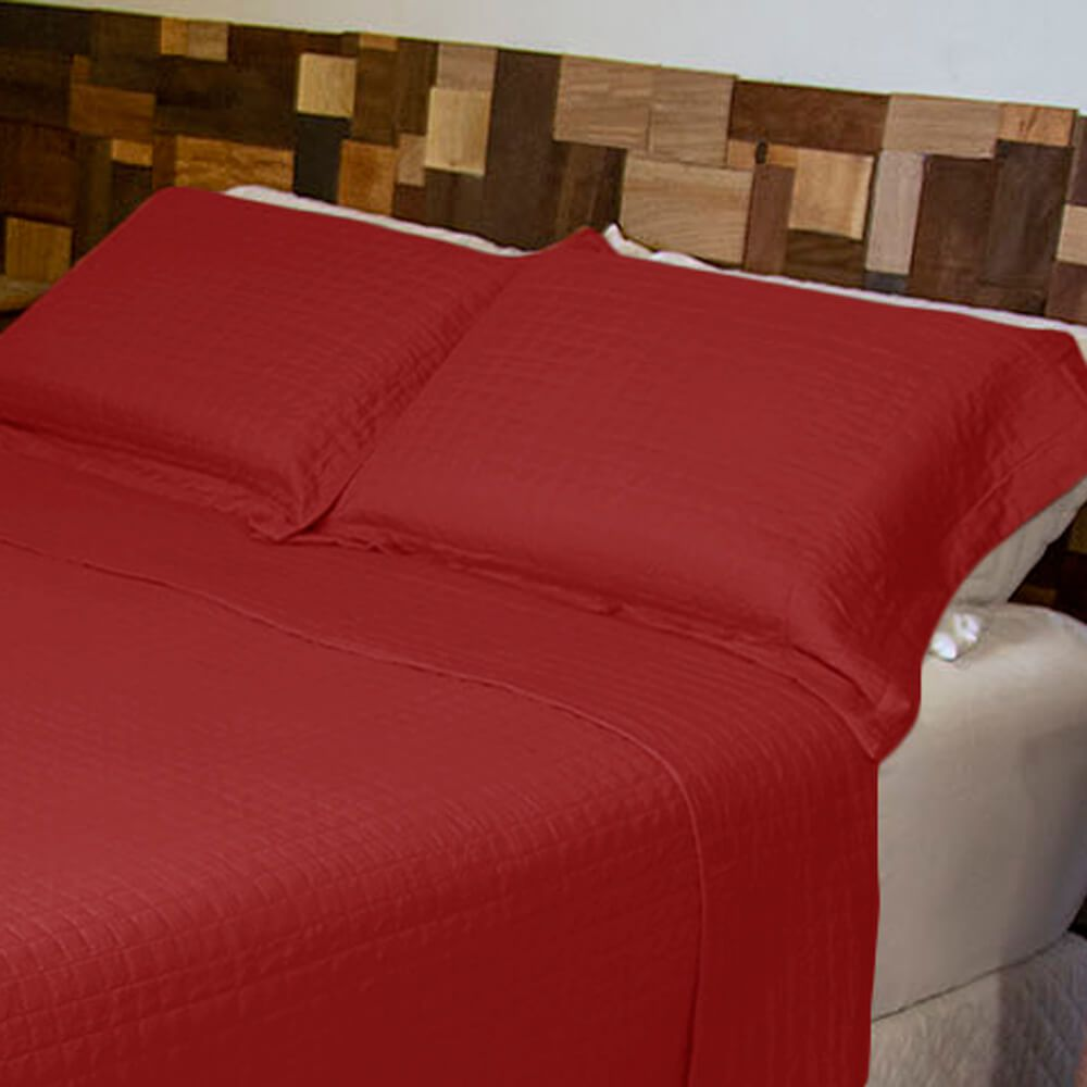 Porta Travesseiro Harmony Vermelho