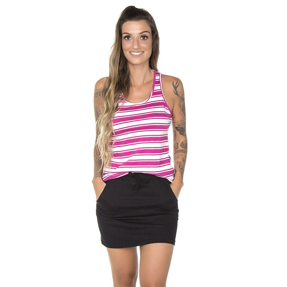 Blusa Feminina Regata Listrada Pink