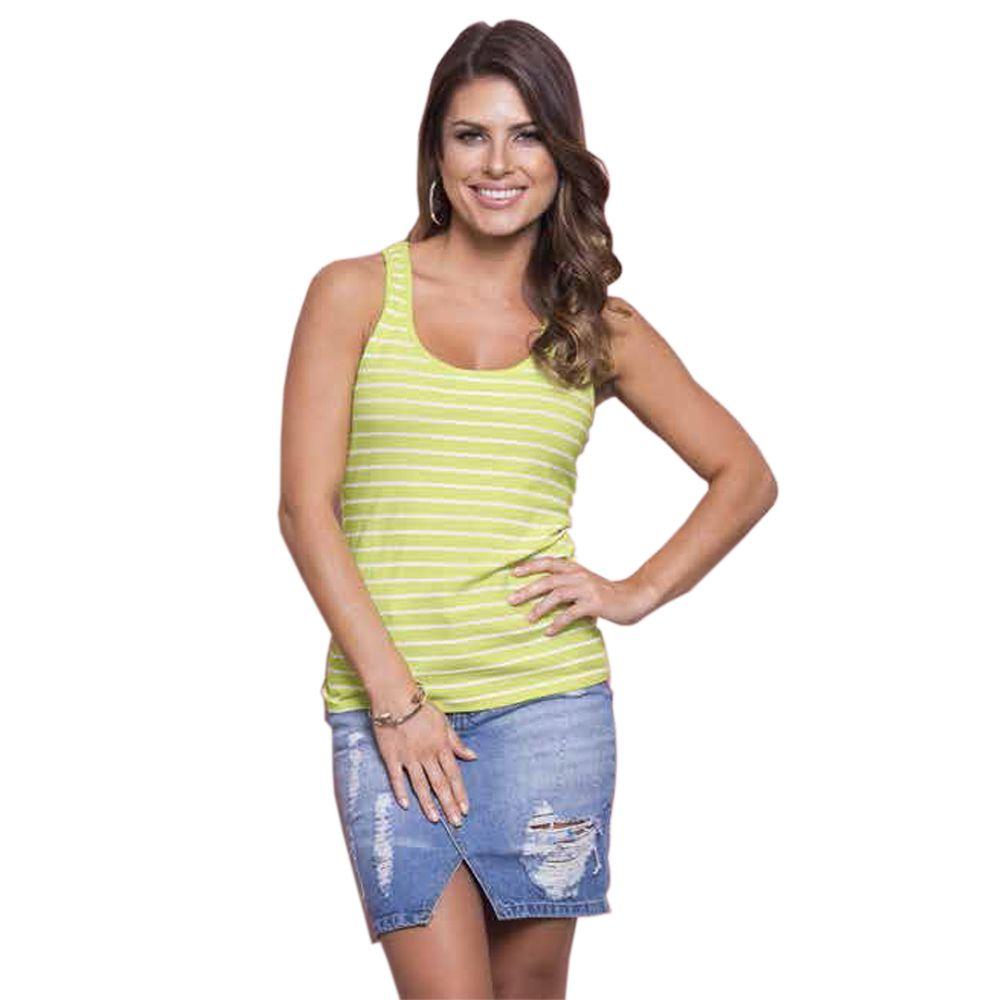 Regata Feminina Nadador Listra Limão