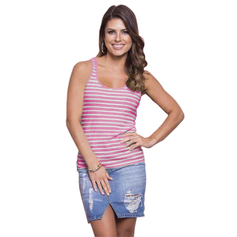 Regata Feminina Nadador Listra Pink
