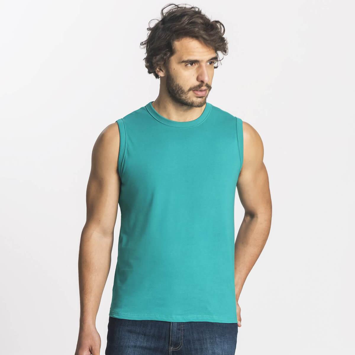 Regata Machão Masculina Básica Premium Verde